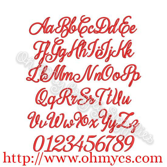 Country Sass Embroidery Font Bx Included