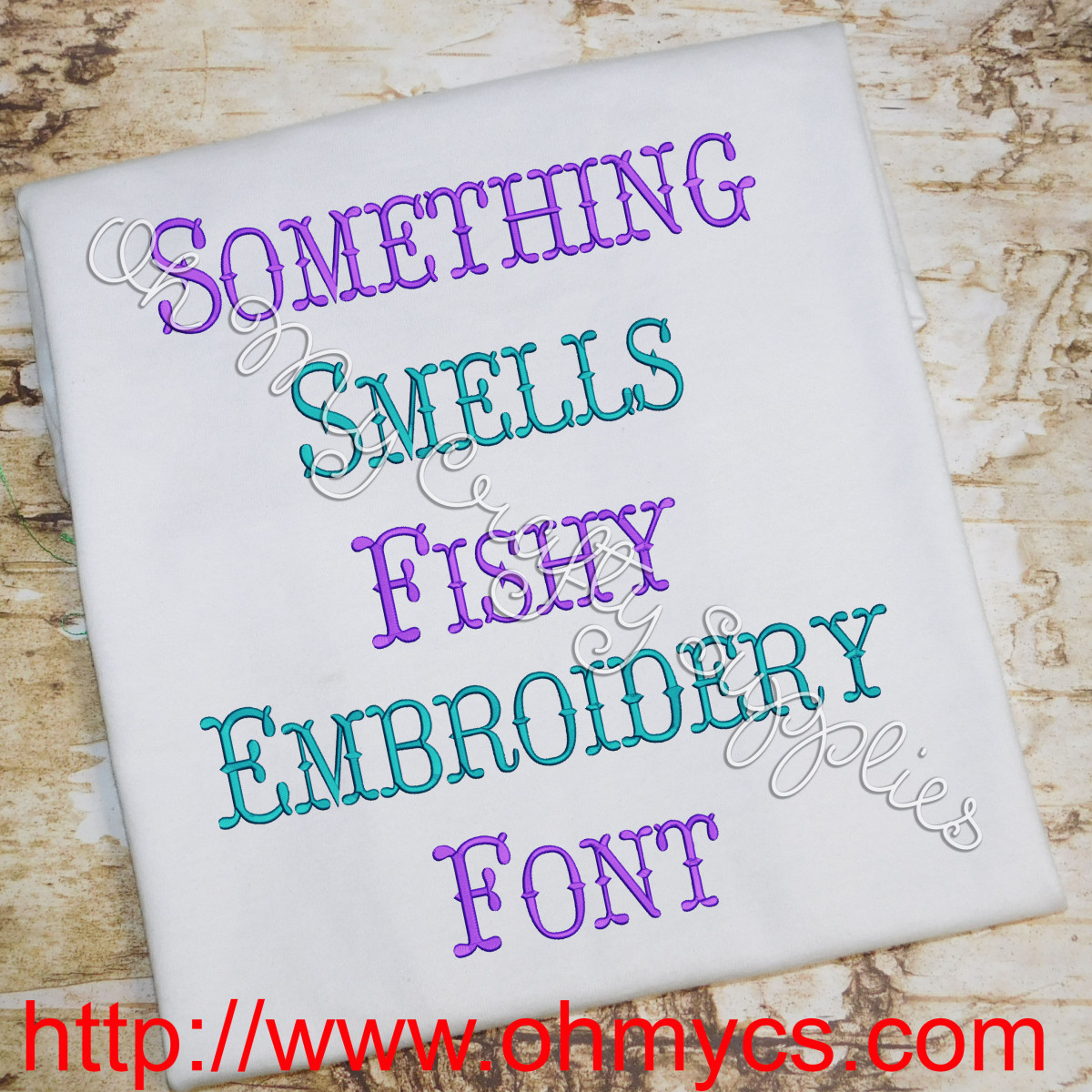 Something Smells Fishy Embroidery Font Bx Included
