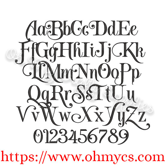 New York Embroidery Font Bx Included