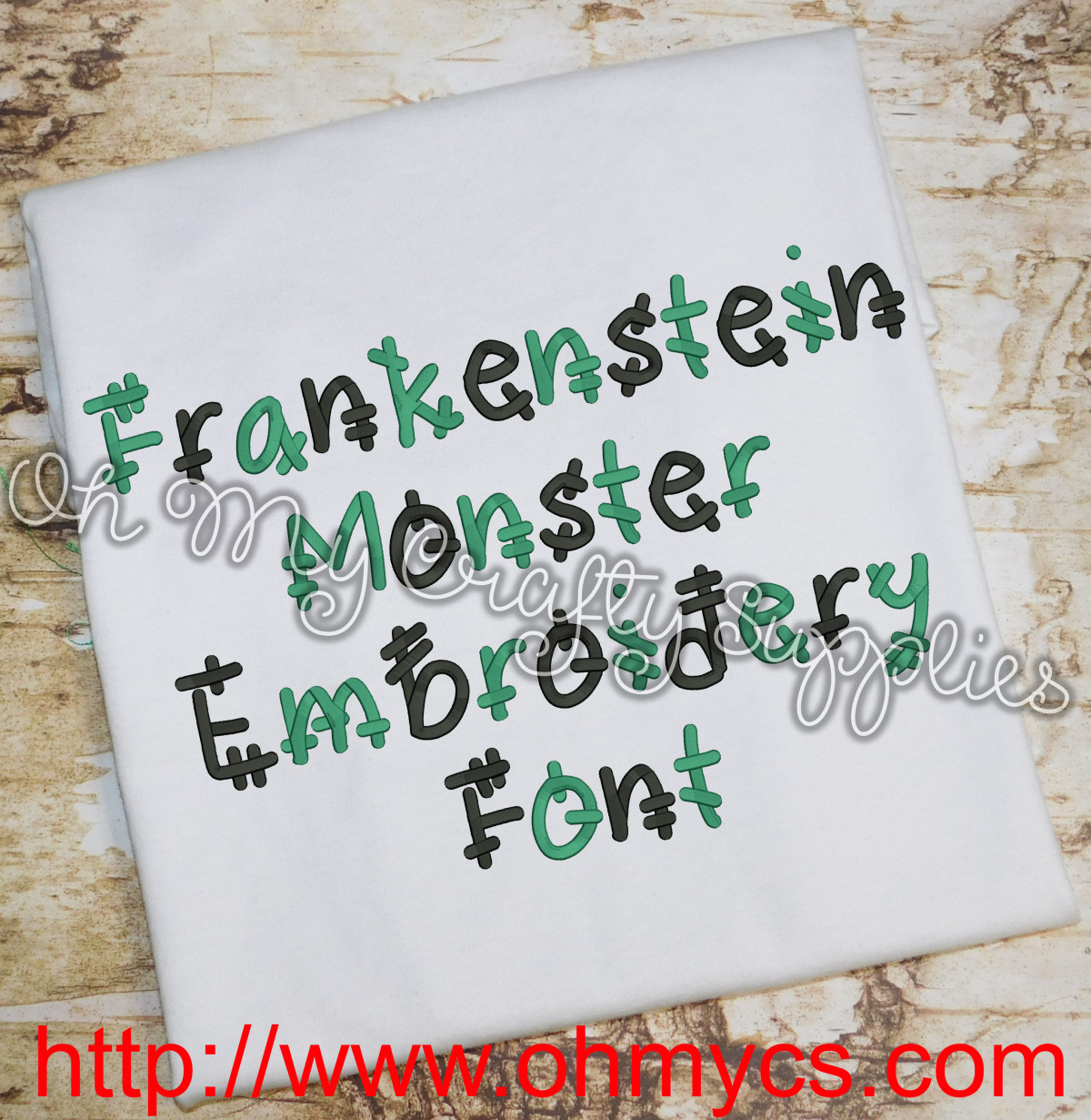 Frankenstein Monster Embroidery Font Bx Included All