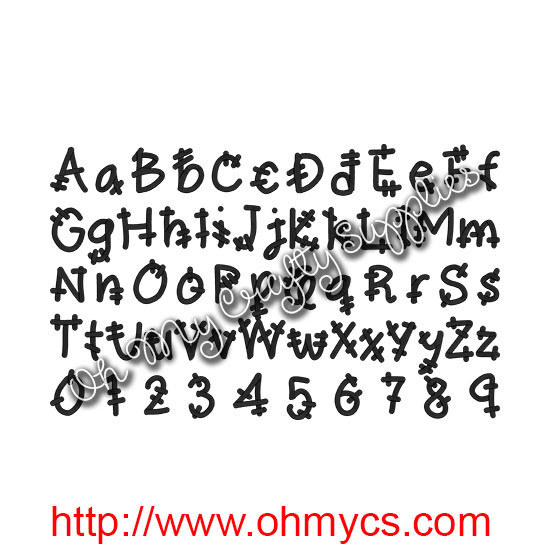 Frankenstein Monster Embroidery Font Bx Included