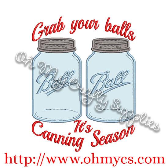 It S Canning Season Applique
