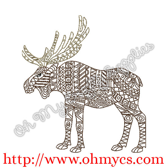 Henna Forest Animal Embroidery Design