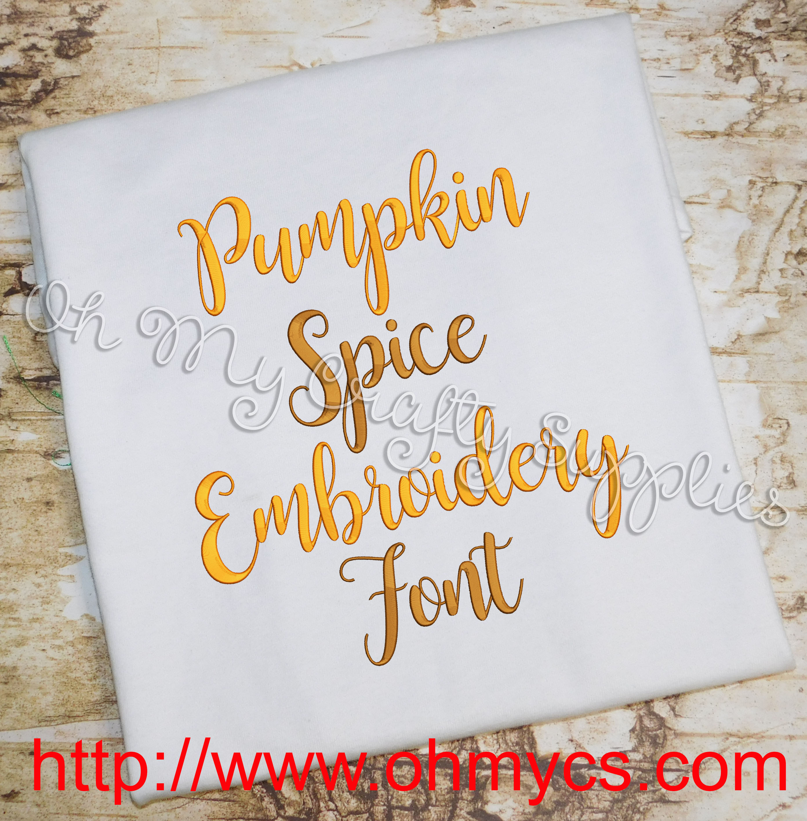 Pumpkin Spice Embroidery Font Bx Included