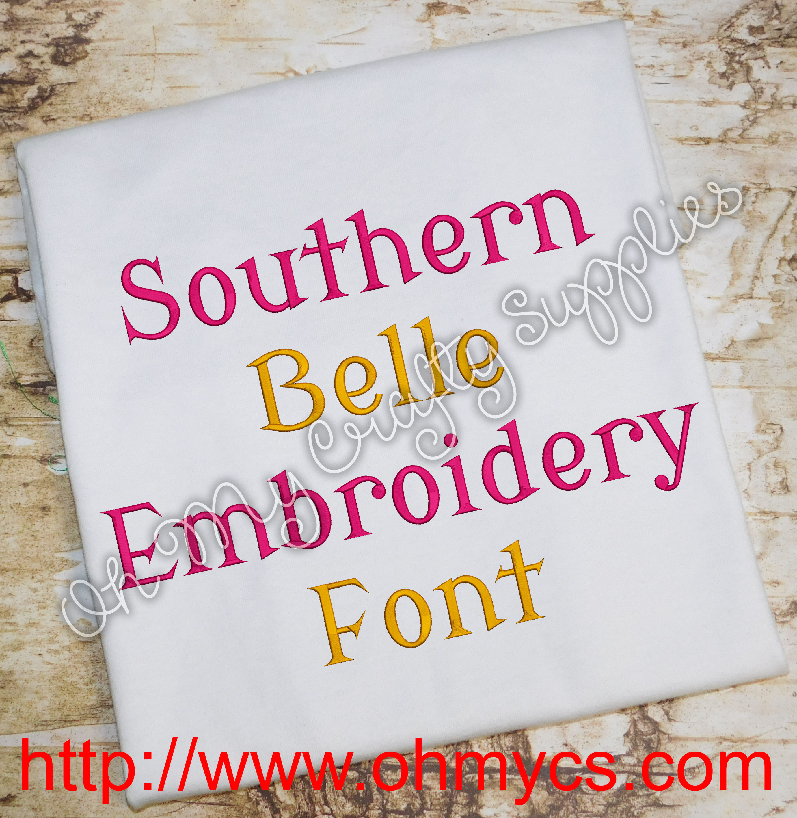 Southern Belle Embroidery Font Bx Included