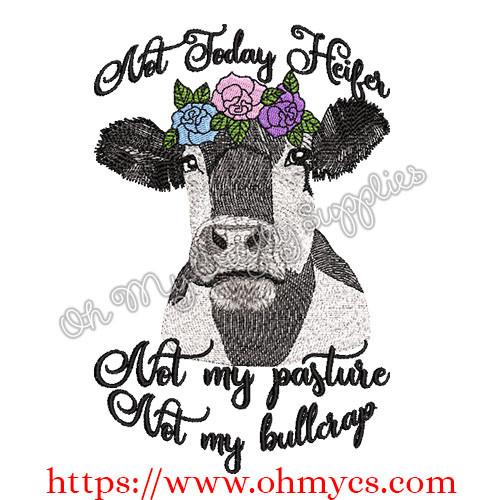 Bullcrap Heifer Sketch Embroidery Design