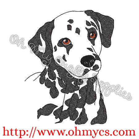 Dalmatian Sketch Embroidery Design