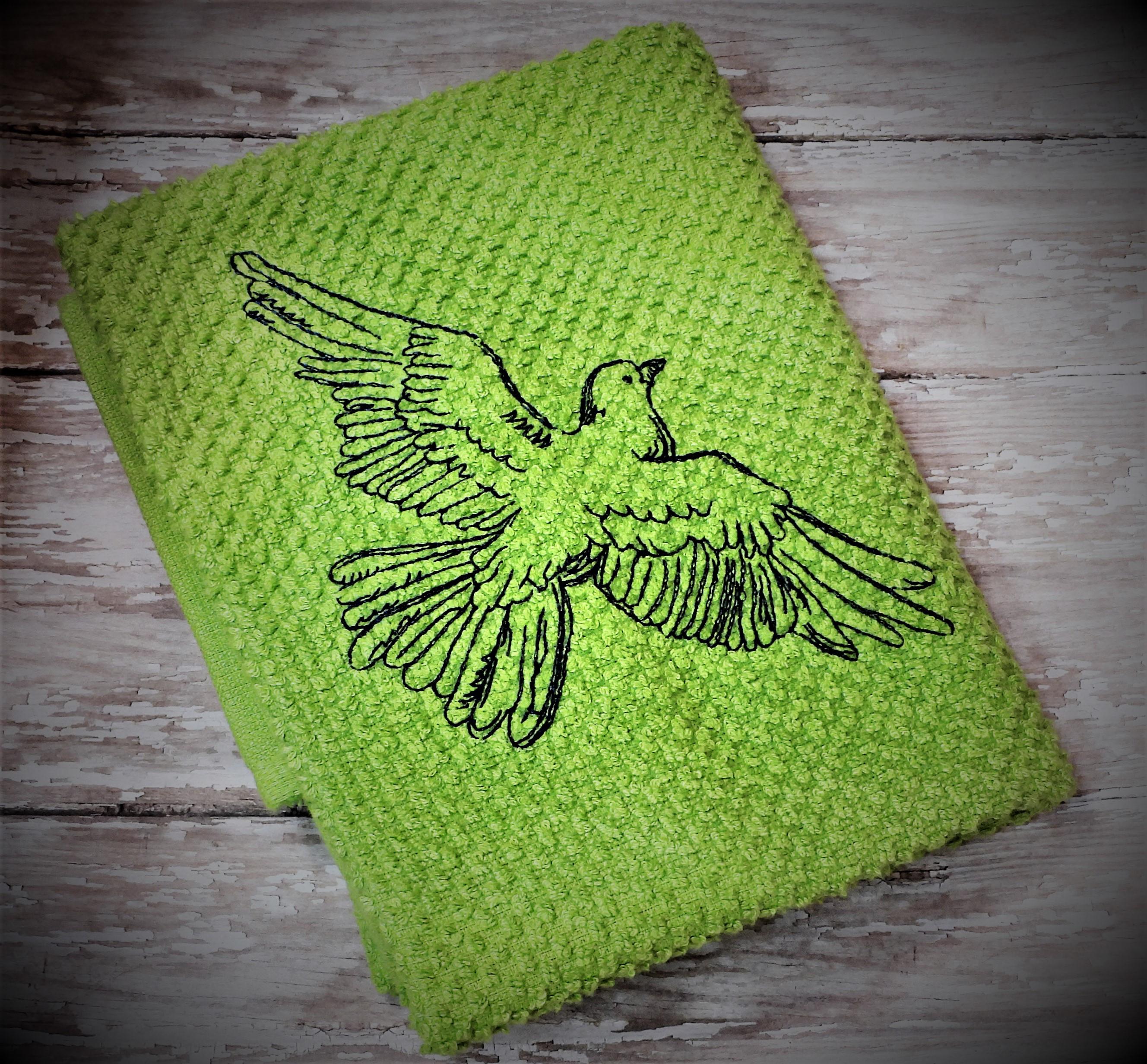 Sketch Dove Embroidery Design