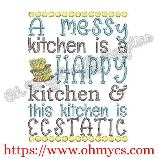Ecstatic Kitchen Embroidery Design