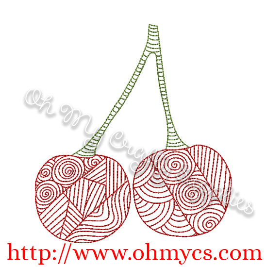 Henna Cherry Design