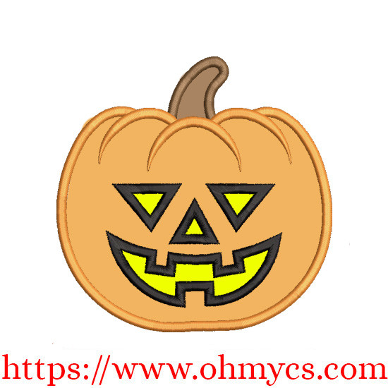 A Simple Jack O'lantern Applique Design
