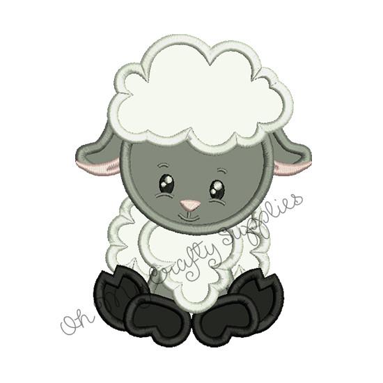 fcfd0eb5670c Lamb Applique Embroidery Design