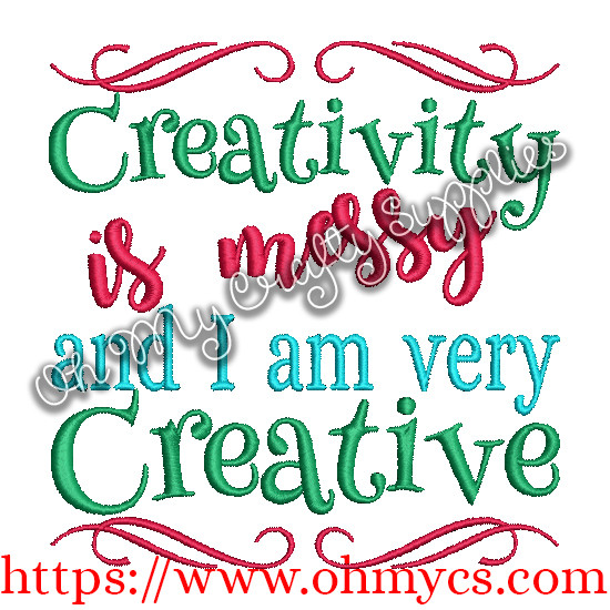 Messy Creativity Embroidery Design