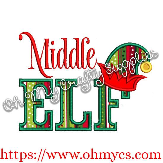 Middle Elf Applique Design