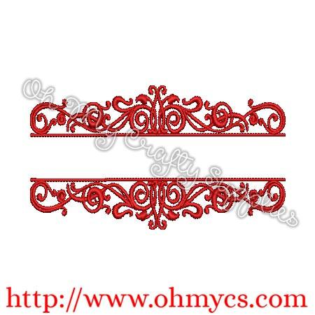Monogram Type Frame Embroidery Design