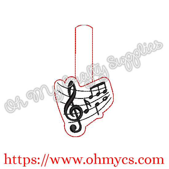 ITH Music Note Key Fob