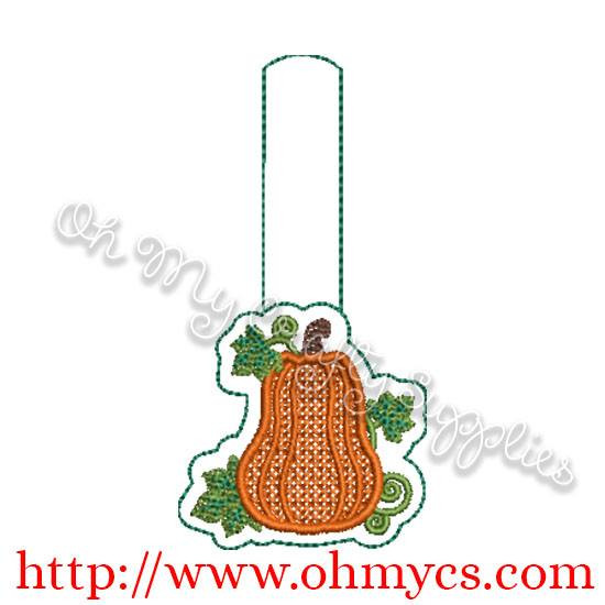 ITH Fall Pumpkin Key fob Embroidery Design