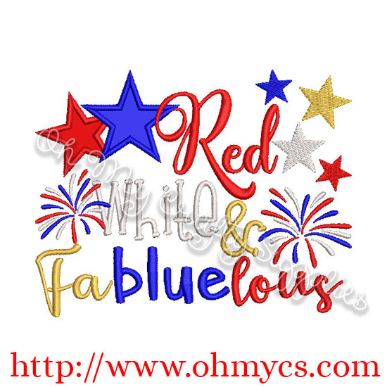 Red White and Fabluelous Applique Design