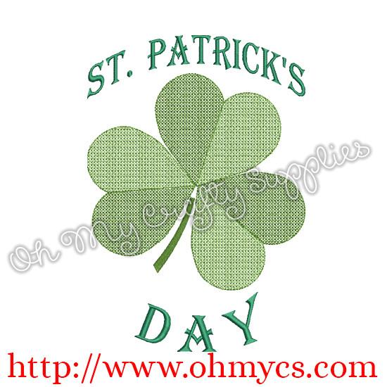 St.Patrick's Day Shamrock Embroidery Design