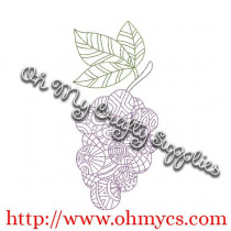 Henna Grape Bunch Embroidery Design