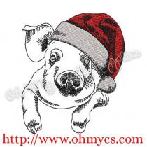 Christmas Pig Sketch Embroidery Design
