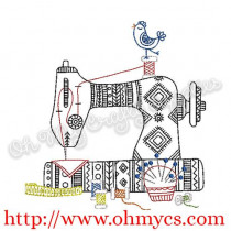 Aztec Henna Sewing Machine Embroidery Design