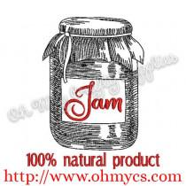 Jam Jar Sketch Embroidery Design