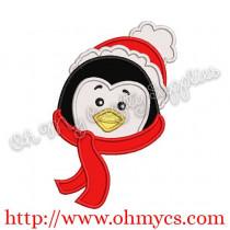 Winter Penguin Embroidery Applique Design
