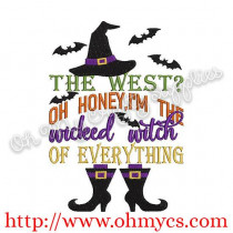 Wicked Witch of Everything Embroidery Design