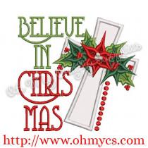 Believe in Christ Applique Design