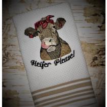 Heifer Solid Stitch Embroidery Design