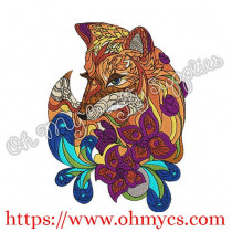 Extreme Fox Embroidery Design