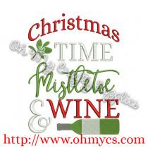 Christmas Mistletoe Wine Picture