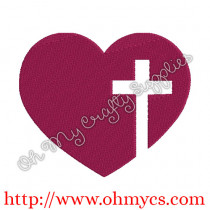 Heart with Cross Picture