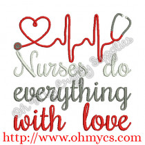 Nurses with love picture
