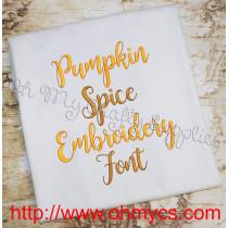 Pumpkin Spice font pic