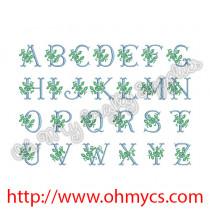 Rose Font Alphabet