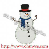 Snowman Standing Picture
