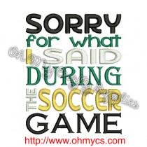 Soccer Apology