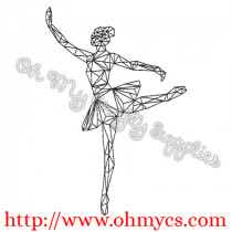 Abstract Ballerina Embroidery Design