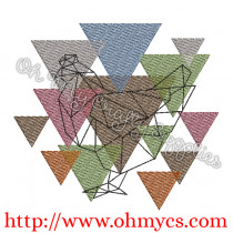 Abstract Chicken Embroidery Design