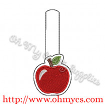 ITH Apple Key Fob Embroidery Design