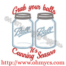 It's Canning Season Embroidery Design