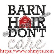 Barn Hair Embroidery Design