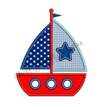 Boat Applique Embroidery Design
