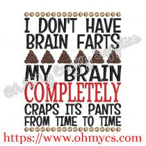 Brain Farts Embroidery Design