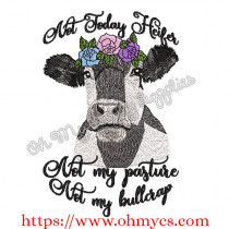 Bullcrap Heifer Embroidery Design