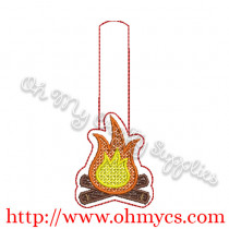 ITH Campfire Key Fob Embroidery Design
