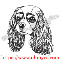 Cavalier King Charles Embroidery Design