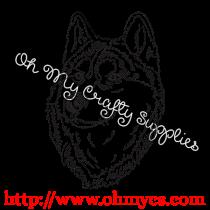 Confident Husky Sketch Embroidery Design